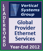 2012 Global Provider Ethernet LEADERBOARD
