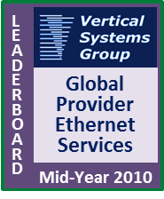 Mid-2010 Global Provider Ethernet LEADERBOARD