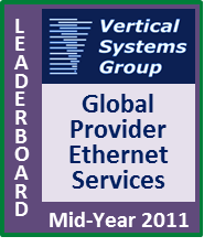 Mid-2011 Global Provider Ethernet LEADERBOARD