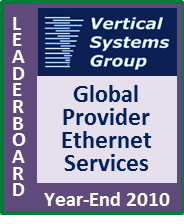 2010 Global Provider Ethernet LEADERBOARD