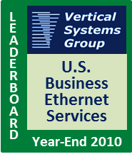 2010 U.S. Business Ethernet LEADERBOARD