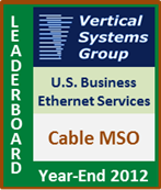 2012 U.S. Cable MSO Business Ethernet LEADERBOARD