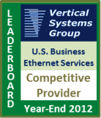 2012 U.S. Competitive Provider Business Ethernet LEADERBOARD