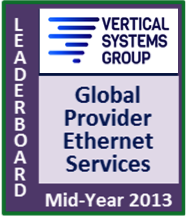 Mid-Year 2013 Global Provider Ethernet LEADERBOARD