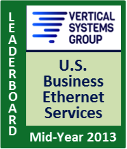 Mid-Year 2013 U.S. Carrier Ethernet LEADERBOARD