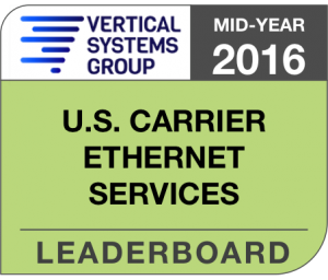 Mid-Year 2016 U.S. Carrier Ethernet LEADERBOARD