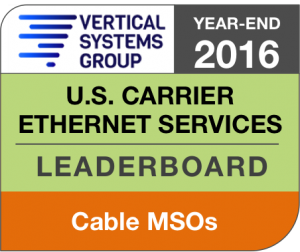 2016 U.S. Cable MSO Ethernet LEADERBOARD