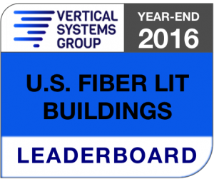 2016 U.S. Fiber Lit Buildings LEADERBOARD