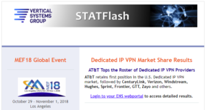 STATFlash July 2018 - MPLS and IP VPN Market Share