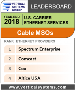 2018 U.S. Cable MSO Ethernet LEADERBOARD
